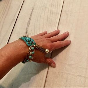 Jewelry - Turquoise and Pearl Bracelet NWOT